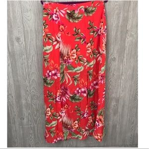 NWOT city triangles floral tropical skirt size 11